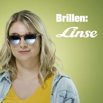 Brillen Linse